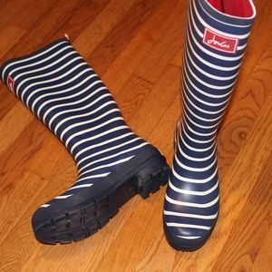 Joules Welly Rainboot Blue/White Stripe 9